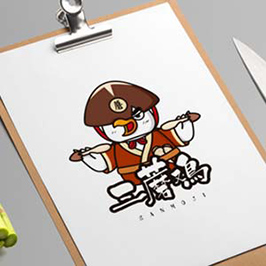 三蘑鸡餐饮吉祥物设计