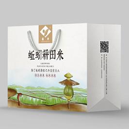 蚯蚓耕田米包裝設計