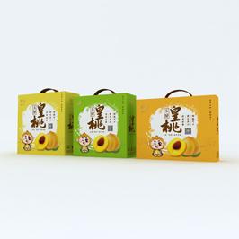 皇桃农产品包装盒设计