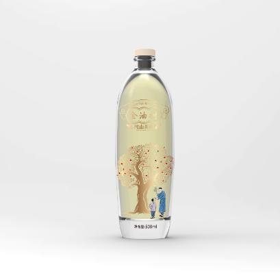 金油树瓶贴设计