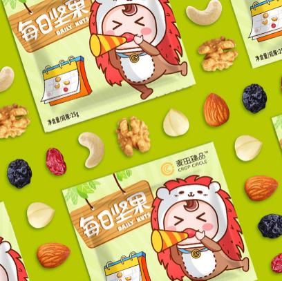 麥田圈食品IP形象包裝設計