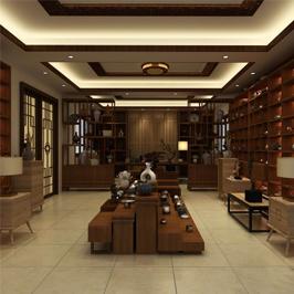 中式瓷藝藝術展廳設計