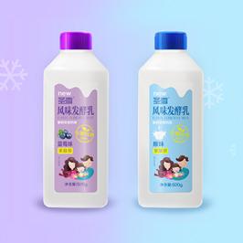 圣雪風味發酵乳包裝設計
