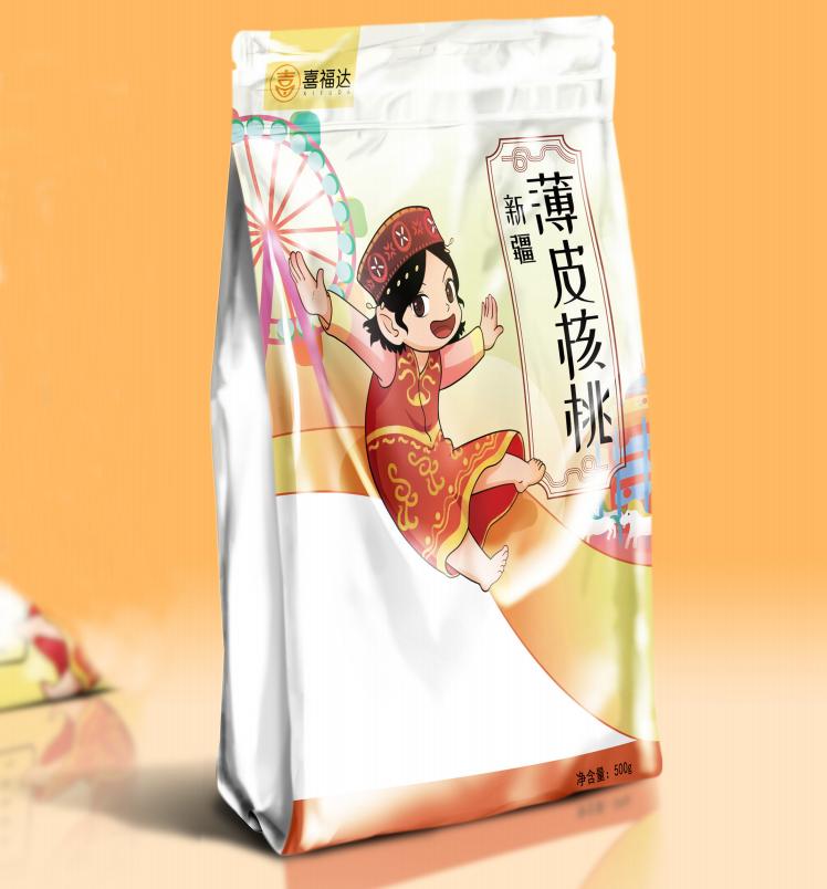 喜福達核桃包裝袋設計