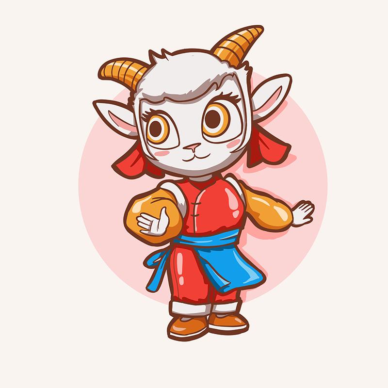 奶山羊吉祥物形象設計