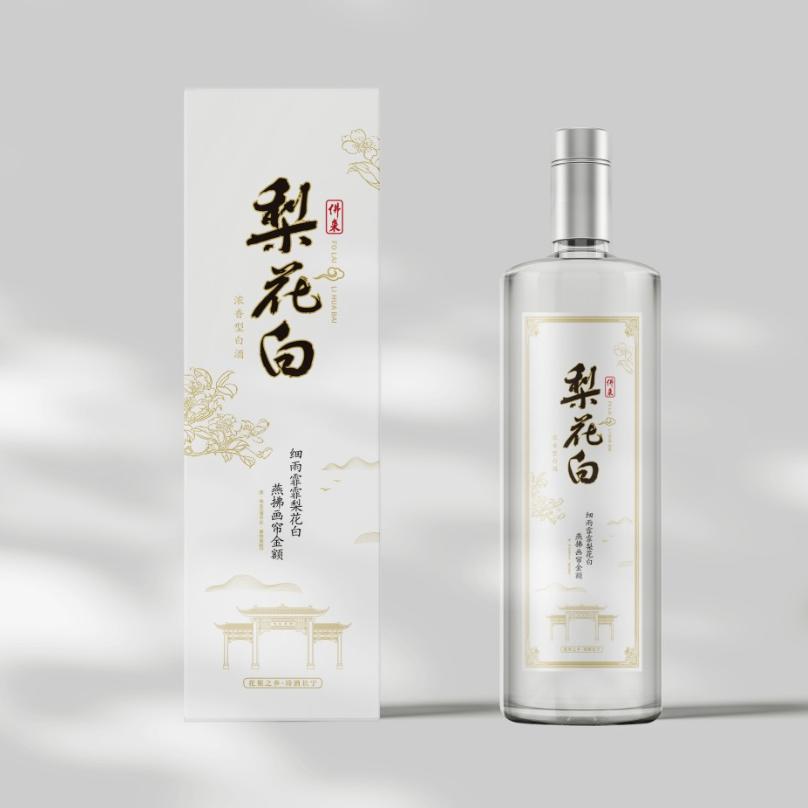 品牌梨花白酒包装设计