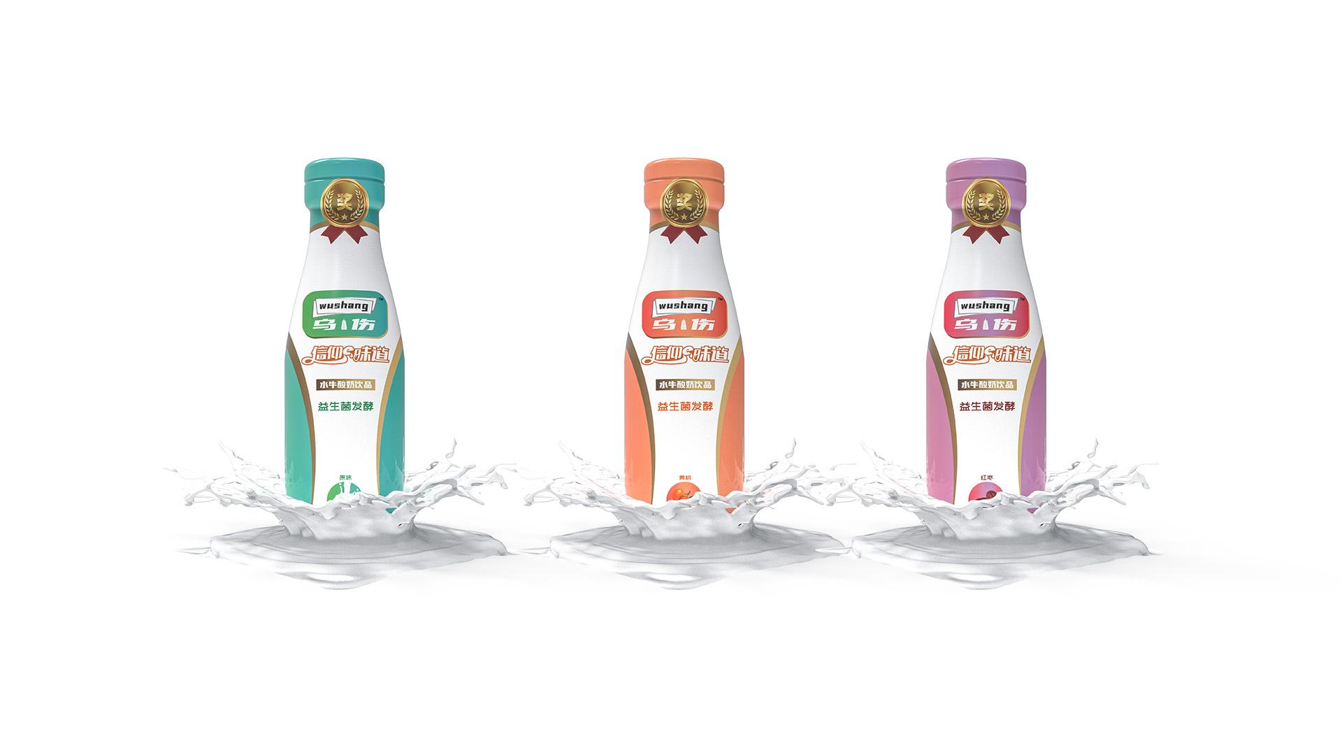 水牛酸奶饮品瓶型设计