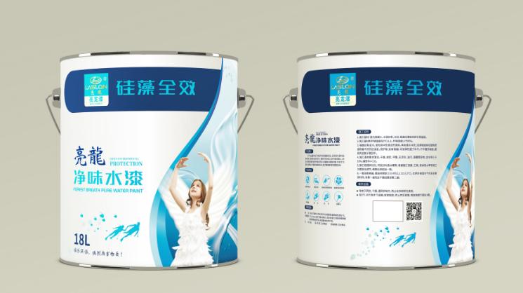 亮龍乳膠漆包裝瓶型設計