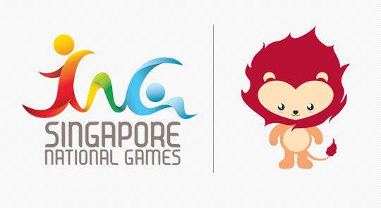 新加坡首届全国运动会会徽和吉祥物