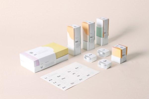 極簡主義的化妝品品牌包裝設計