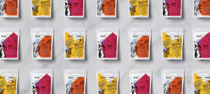 早餐燕麦食品插画包装设计