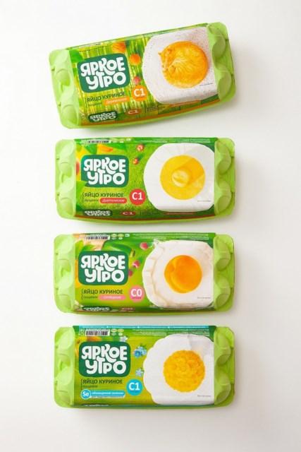 明亮的早餐系列雞蛋包裝設計
