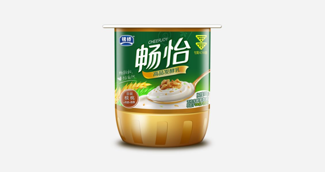 銀橋乳業酸奶包裝設計案例賞析